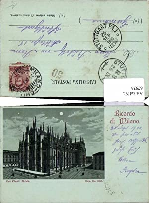 67936,Ricordo di Milano Milan 1800 pub Künzli