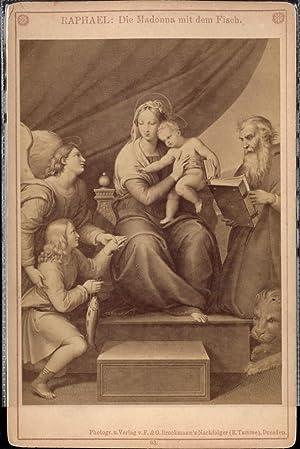 339710,CDV Raphael Die Madonna m. d. Fisch