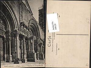 349155,Languedoc-Roussillon Gard Saint-Gilles L'Eglise Statue et Chapiteaux
