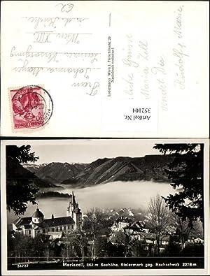 352104,Mariazell Teilansicht Kirche geg. Hochschwab Bergkulisse
