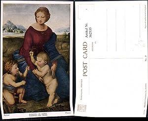 362535,Künstler Ak Raphael Madonna in Green Kinder