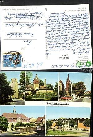 369077,Bad Liebenwerda Lubwartturm Eisenmoorbad Rathaus Schwimmhalle Mehrbildkarte