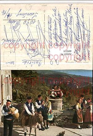 489214,Jugoslavija Kroatien Istarski folklor Trachten Tracht Esel