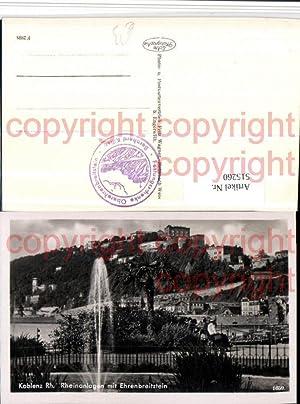 515260,Koblenz am Rhein Rheinanlagen m. Festung Ehrenbreitstein