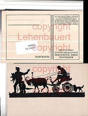 520845,Künstler AK Scherenschnitt Silhouette Josef Madlener Starrköpfe