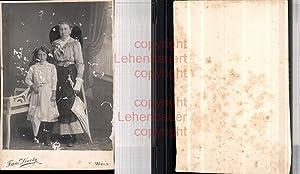530274,CDV Kabinettfoto Atelier Franz Diwoky Wels Frau