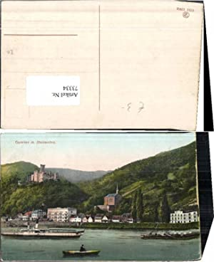 73334,Capellen m. Stolzenfels Dampfer Boot Koblenz