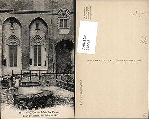 342225,Provence-Alpes-Cote-Azur Vaucluse Avignon Palais des Papes Cour