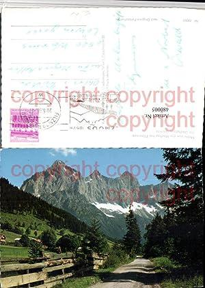 480005,Hachau b. Filzmoos Wegpartie m. Dachstein Bergkulisse