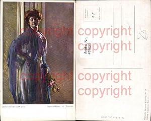 479053,Künstler Ak Jehudo Epstein Damenbildnis Frau Lockenkopf