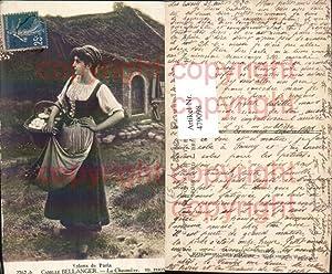 479098,Künstler Ak Camille Bellanger La Chaumiere Frau