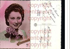 522940,Foto-AK Art Deco Style Frau Blumen pub
