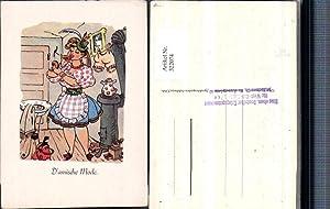 322074,Künstler AK Damische Mode Frau in Tracht