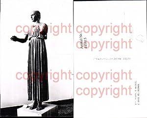 445415,Antike L Aurige des Delphes Frau Statue