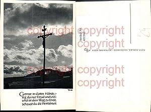 451142,Popp Verlag Landschaft Kreuz Kruzifix Spruch