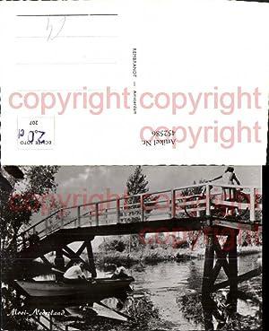 452586,Netherlands Mooi Nederland Fluss Ruderboot Brücke Fahrrad
