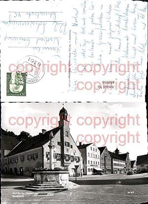 458956,Mainburg Hallertau Stadtplatz Brunnen Rathaus