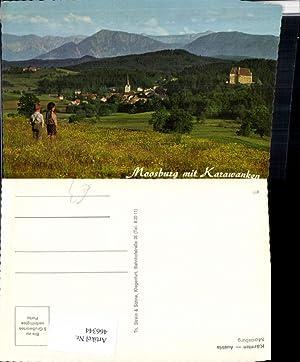 466344,Moosburg Totale m. Karawanken Bergkulisse