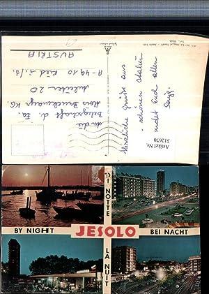 312670,Veneto Venezia Jesolo b. Nacht Teilansicht Hafen