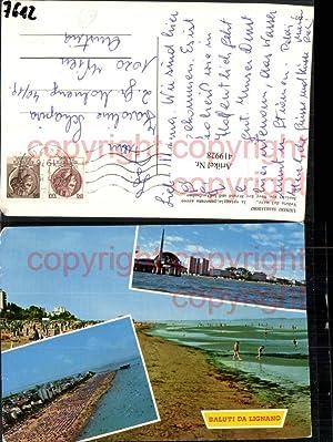 419928,Friuli-Venezia-Giulia Udine Lignano Sabbiadoro Spiaggia Strand Mehrbildkarte