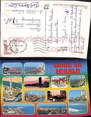 420723,Veneto Venezia Jesolo Totale Strand Leuchtturm Mehrbildkarte