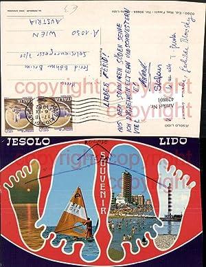 420801,Veneto Venezia Jesolo Lido Strand Leuchtturm Segler