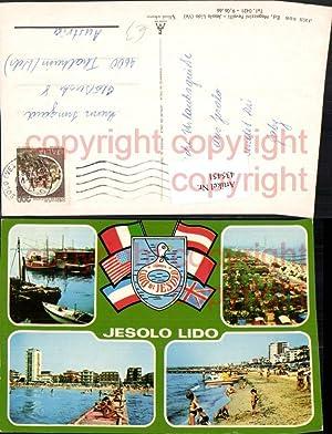435451,Veneto Venezia Lido Jesolo Teilansicht Strand Strandleben