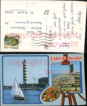 435487,Veneto Venezia Lido di Jesolo Strand Leuchtturm