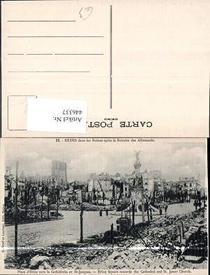 446337,WW1 Reims dans les Ruines Zerstörte Gebäude