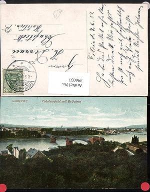 396037,Coblenz Koblenz Teilansicht m. Brücken