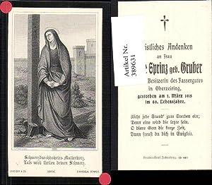 389631,Andachtsbild Heiligenbildchen G. Flatz Jungfrau Heiligenschein Fassergut