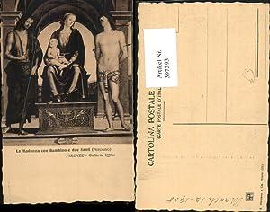 397293,Toscana Firenze Florenz Galleria Uffizi Madonna con