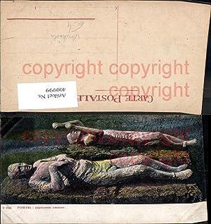 400999,Pompei Impronte umane Archäologie Ausgrabung