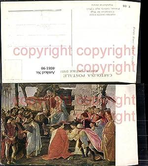 408190,Künstler Ak Sandro Botticelli L Adorazione de