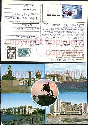 410705,Russia Leningrad Statue Denkmal Gebäude Mehrbildkarte