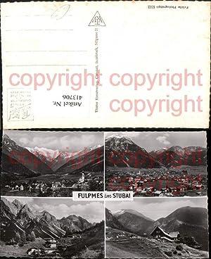 413706,Fulpmes im Stubai Totale Berghütte Bergkulissen Mehrbildkarte