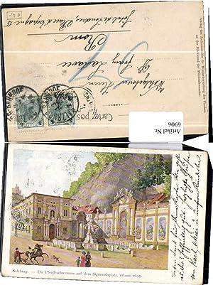 6906,Salzburg Pferdeschwemme Sigmundsplatz Mett sign