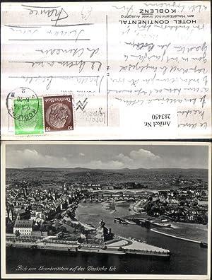283450,Koblenz Totale Blick vom Ehrenbreitstein auf das