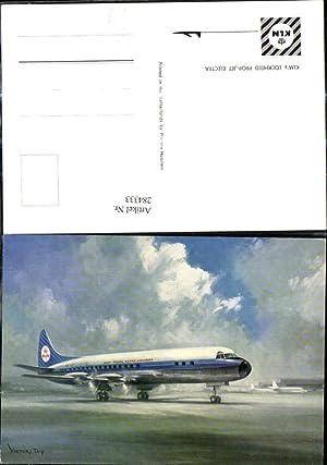 284333,Künstler Ak Victor Trip Flugzeug KLM Lockheed