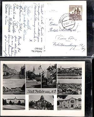291487,Hollabrunn Totale Kirche Turm Straßenansicht Schloss Mehrbildkarte