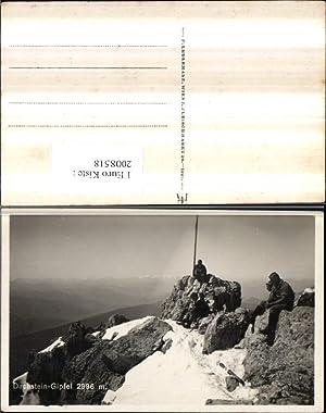 2008518,Dachsteingipfel Bergkulisse b. Filzmoos Bergsteiger