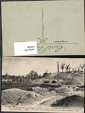 359206,Champagne-Ardenne Marne Ruines de Grande Guerre Reims