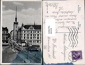 361414,Brno Brünn Kostelni ulice Kirchengasse Straßenbahnen Kino