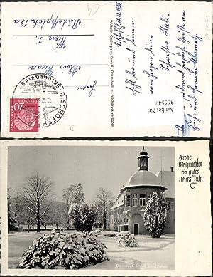 365547,Darmstadt Schloss Kranichstein Winterbild