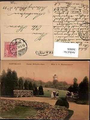 365836,Dortmund Kaiser-Wilhelm-Hain Blick auf die Bismarck-Säule