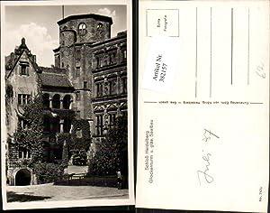 382157,Heidelberg Schloss Glockenturm u. Gläserner Saalbau