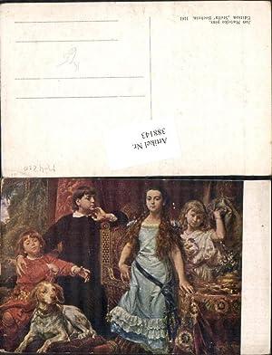388143,Künstler Ak Jan Matejko Kinder m. Hund