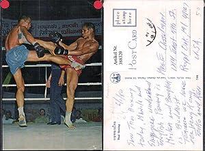 388320,Sport Boxen Thai Boxing Boxer im Ring