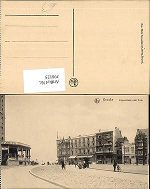 398125,Belgium Knocke Knokke-Heist Lippenslaan naar Zee Straßenansicht