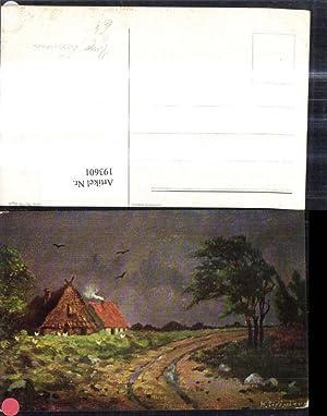 193601,Künstler Ak Hugo Lissmann Haus Bauernhof Strohdach